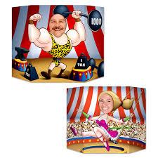 photocall doble cara circo