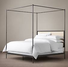 Caleigh Iron Canopy Bed. Click to Zoom