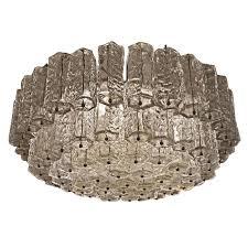 flat venetian murano glass chandelier by lumenform for