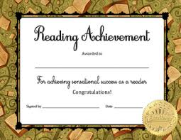 achievement awards for elementary students reading achievement award students school and literacy