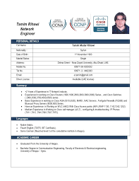 resume for ccna engineer