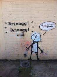 art afterall is very similar to red ted s drawings banksy phone tap below he adored that though the pun on words was lost on him banksy