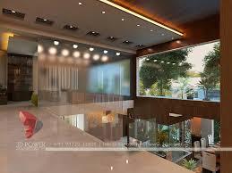 contemporary home interior design rendering