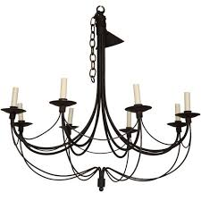 gorgeous black wrought iron chandeliers painted wrought iron chandelier at 1stdibs