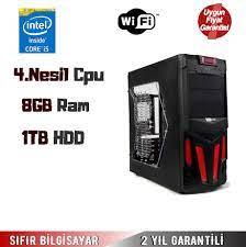 İntel Core İ5 4.Nesil 3,20Ghz Cpu 8Gb Ram 1Tb Hdd Masaüstü Bilgisayar  Fiyatı - Taksit Seçenekleri
