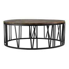 Industrial Round Coffee Table Furniture Round Metal Coffee Table Round Table On The Wooden Table