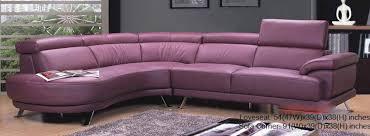 Modern Purple Leather Sectional 0298 -MA