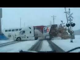 Dramatic crash between truck, train caught on camera ...