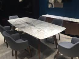 rectangular dining table with round cornerarble