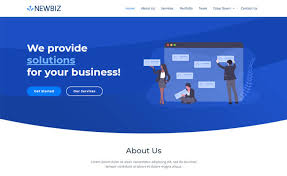 Free Business Templates Newbiz Free Bootstrap 4 Html5 Corporate Business Website Template