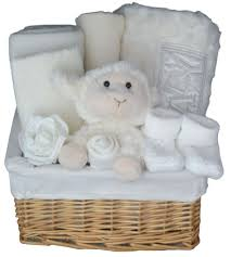 snow uni luxury newborn baby gift basket for new baby boy or baby
