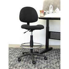 office drafting chair. Boss Office Products Black Contoured Comfort Adjustable Rolling Drafting Stool Chair