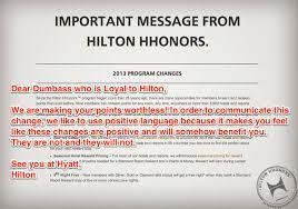 Hilton Honors Devaluation 2013 Goodbye Hilton Honors Program