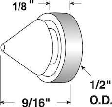 image is loading herco metal frame door silencer per black rubber