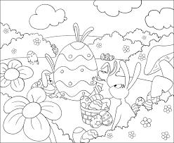 Jeux Pour Enfant Coloriage De Lapins Et D Oeufs De Paques Blog
