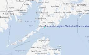 Falmouth Heights Nantucket Sound Massachusetts Tide