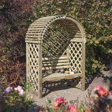 victoria wooden garden arbour seat