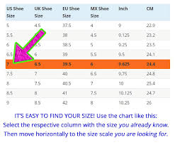 Shoe Sizes Shoe Size Charts Men Women How To Measure