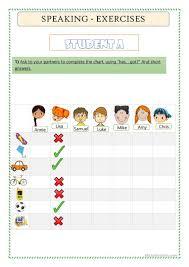 English Speaking Chart Speaking Has Got English Esl Worksheets