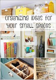 How To Organize Small Spaces organize small spaces - our thrifty ideas
