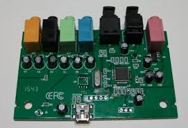 daqarta sound card dc pulse output circuits as discussed under output and reference connections in the sound card dc input output modification topic the output capacitors are the row of 6 black