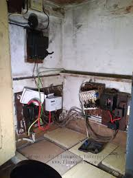 an electrical installation from the 1950s signs of a bad power meter at Bad Electric Meter Wiring