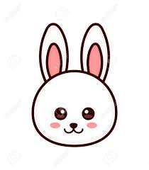 outline of bunny cute bunny rabbit face vector modern line outline flat style