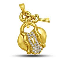 heart lock key delight 0 10ct 18kt gold diamond pendants for my princess