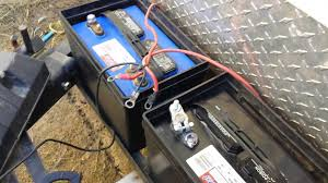 how to wire your rv batteries youtube battery power for pop up camper at Rv Battery Wiring Color