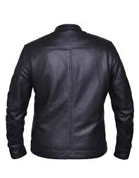 mens soft cowhide leather scooter jacket mlsj61