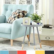 tray top coffee table furniture paint dipped round spindle tray top side table inspire q modern