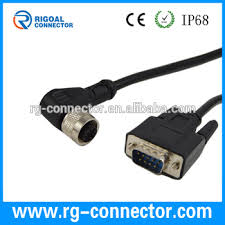 right angle m12 5 pin female connector to db9 male cable buy m12 right angle m12 5 pin female connector to db9 male cable