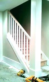 Open basement stairs Retractable Related Post Open Basement Stairs Carpeting Half Wall Staircase Stair With Knee Design Jaimeparladecom Related Post Open Basement Stairs Carpeting Half Wall Staircase