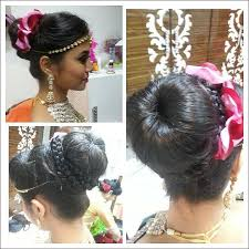 south indian bridal hairstyles for reception bun