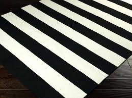 black and white striped runner rug posts