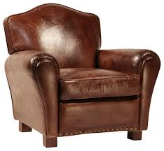 aged leather club chair transitional armchairs and accent chairs by design mix furniture