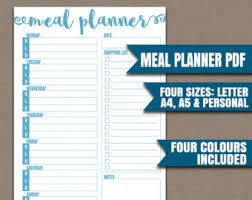 four week meal planner week plan etsy