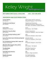 Bruce Ryan Production Design 1404914924 Kelleyresume By Art Directors Guild Issuu