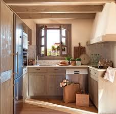 compact office kitchen modern kitchen. Cocina De Madera Distribuida En \ Compact Office Kitchen Modern