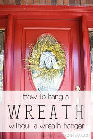 how to hang a wreath on a glass door ask anna