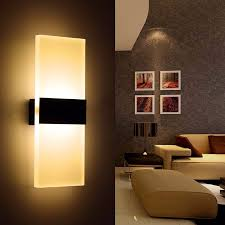 bedroom wall sconce lighting. Bedroom Wall Light Fixtures New Acrylic 12w Led Sconces Ac110v 220v Stair Bedside Sconce Lighting M