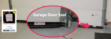 a garage door seal gap seal and threshold seal that mounts to the inside face of the door instead of the bottom which is energy saving