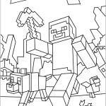 Kleurplaat Linktijger Minecraft Coloring Pages Printable Coloring