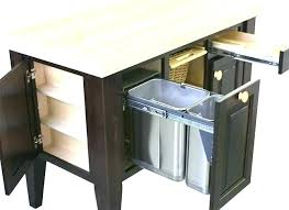 double trash bins kitchen island with garbage bin kitchen island with trash bin kitchen island with double trash bins