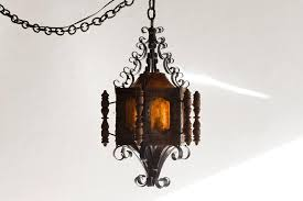 1960s spanish revival or mexican pendent light wrought iron at 1stdibs