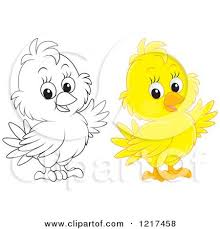 Small Picture baby chick holding a candlestick image Royalty Free