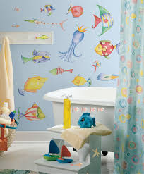 Bathroom Fish Decor Tropical Fish Wall Stickers Sea Creatures Decals For Kids