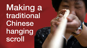 Making a traditional Chinese <b>hanging scroll</b> - YouTube