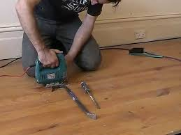 remove tongue and groove floorboards with minimal damage