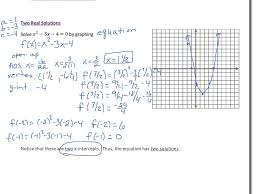 alg 2 lesson 5 2 solving quadratic equations by graphing
